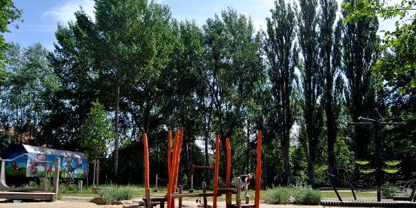 Der Spielplatz Wallstraße wurde dieses Jahr fertiggestellt.