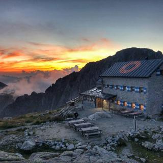 il tramonto al rifugio