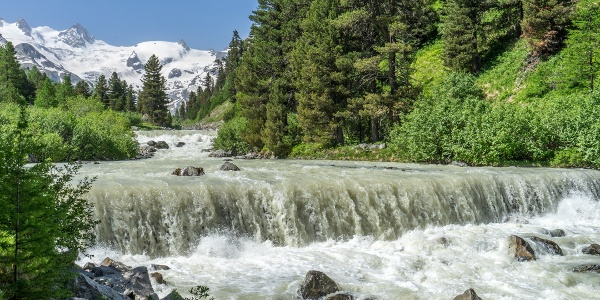 Meltwater River from the Glaciers