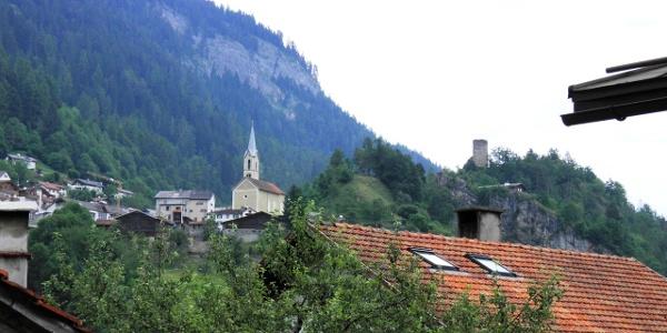 Blick von Digg auf Trin und Ruina Canaschal