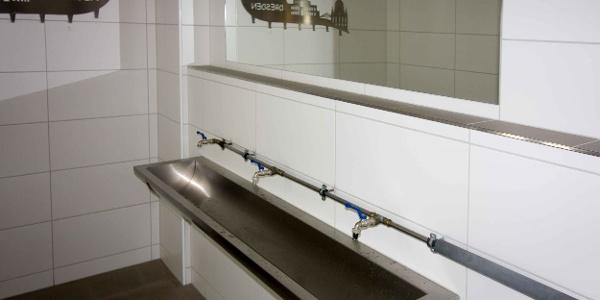 Hochstubaihütte - Einer der beiden Waschräume