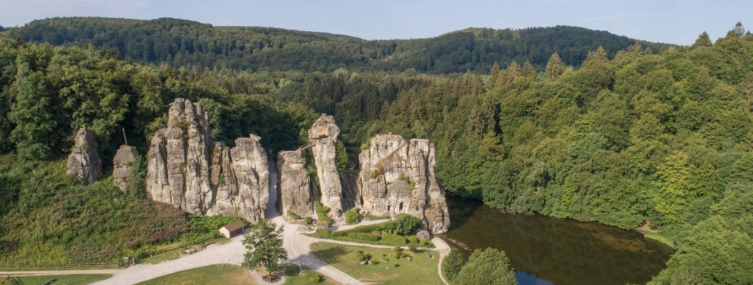 Externsteine im Teutoburger Wald bei Horn-Bad Meinberg
