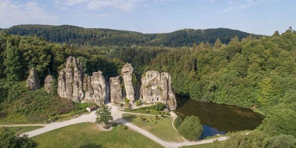 Externsteine im Teuoburger Wald bei Horn-Bad Meinberg