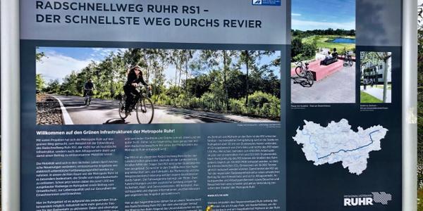 Plan des Radschnellweg 1 - RS1
