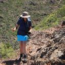 Trampelpfad am westlichen Hang des Roque Imoque