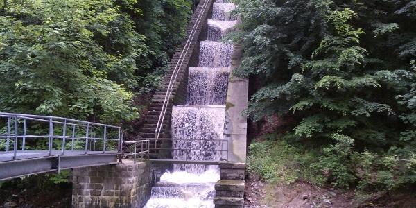 Wasserkraftwerk Rabenauer Grund - Kaskade