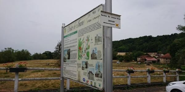 Départ du sentier à Domrémy