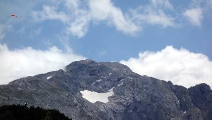 Rückblick zum Hohen Göll, 2522m.