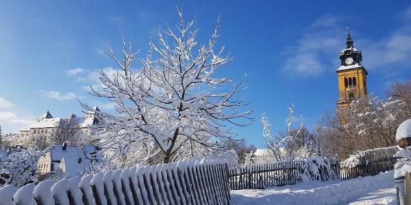 Stadtspaziergang Augustusburg im Winter