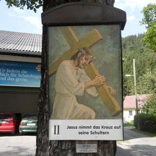 2. Kreuzwegstation beim Bauernhof Atzler