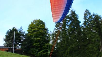 Flyart Flugschule Gleitschirm Start in Hesselbach