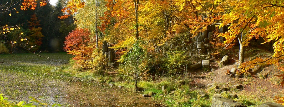 Silbersee: Tagebaurestsee nahe Dörnberg im Hohen Habichtswald