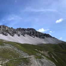 Up-hill Trail vom Umbrailpass zum Forcula