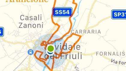 PerCorso AquilaArancione Cividale del Friuli (UD) Italy 16Km