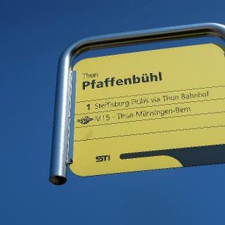 Bushaltestelle Thun Pfaffenbühl.