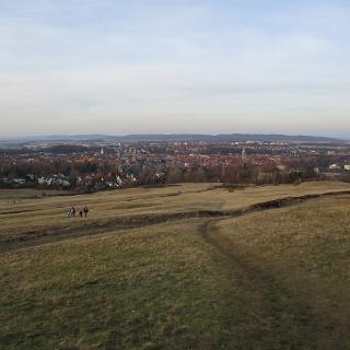 Blick vom Harzrand auf Goslar