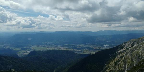 Vom Smokuski vrh auf das Tal der Save und Bled