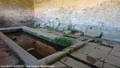 Intérieur de la fontaine des Roises remarquez la flore locale
