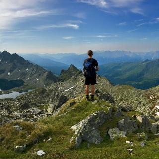 Blick etwa vom Kreuzseeschartl zurück zur Wangenitzseehütte