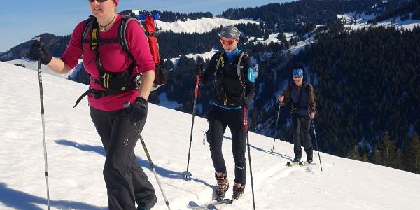 Schlussanstieg zur Höllritzer Alpe