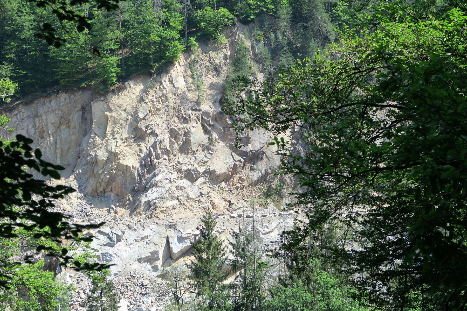 Steinbruch im Albtal.