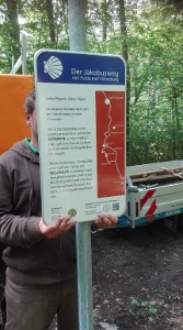 Ramsthal - Hinweistafel zum Abzweig