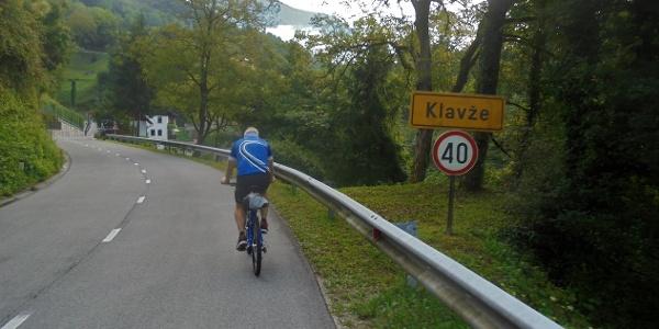 Auf dem Weg von Most na Soči nach Klavže