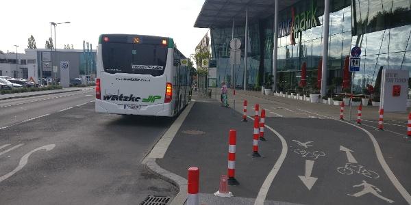 Start: Knotenpunkt Murpark - Bahn, Tram und Busse