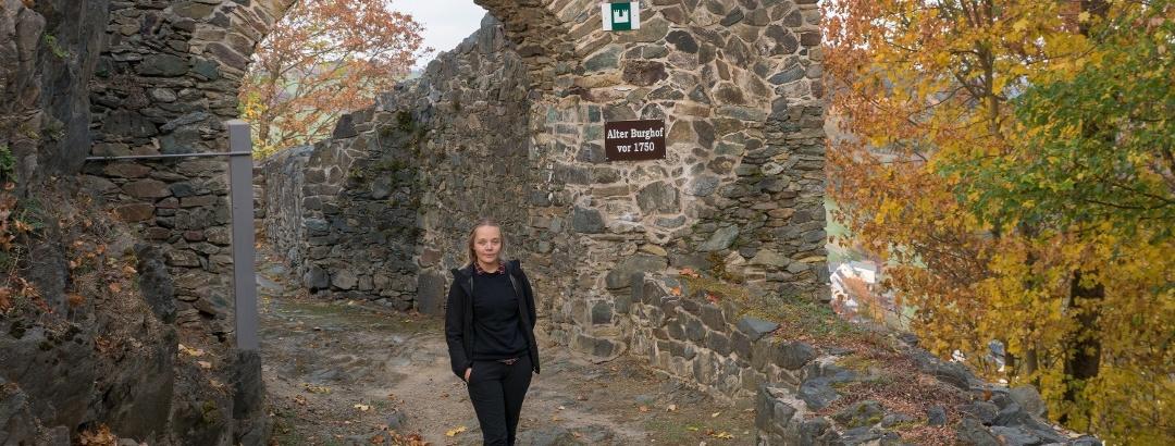 Burgruine Blankenberg am Kammweg Erzgebirge-Vogtland