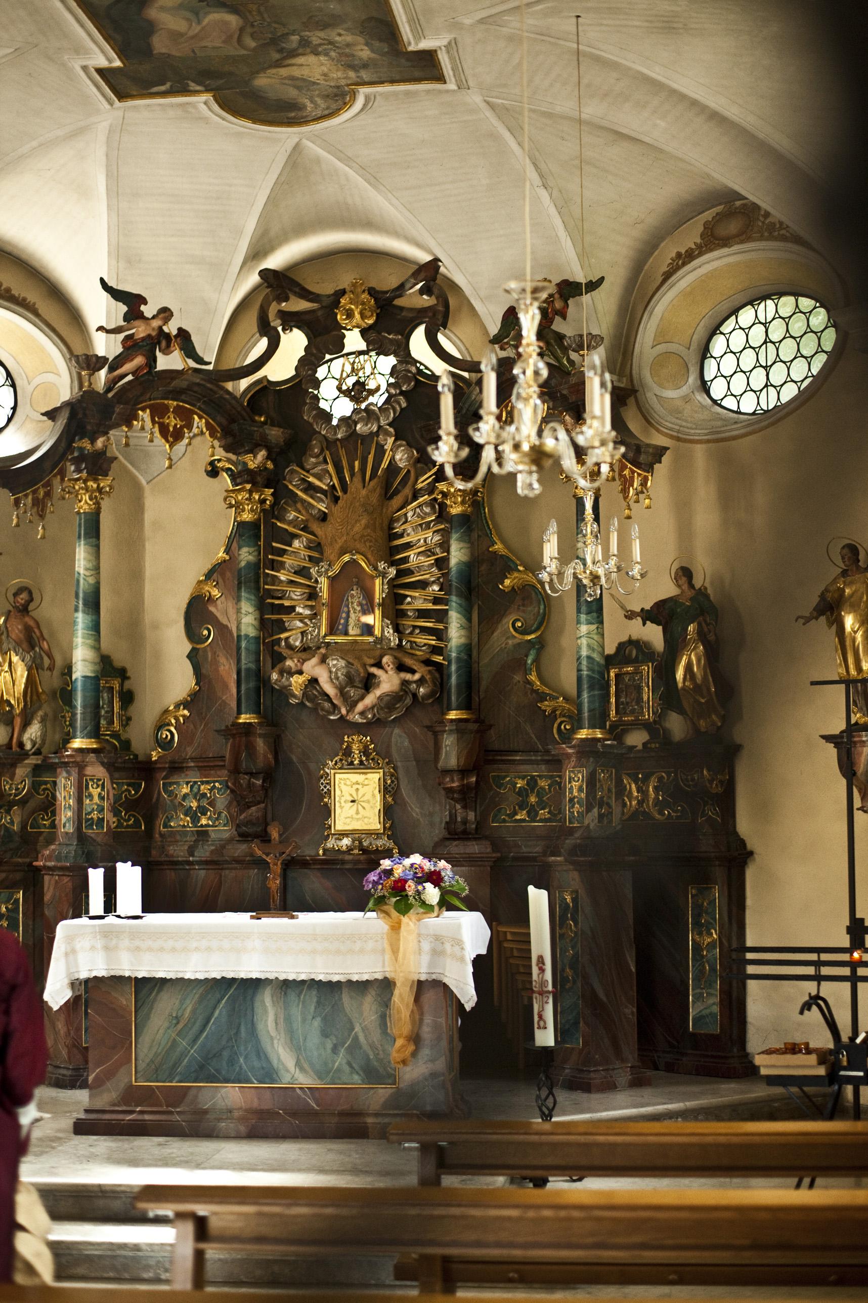 Innenraum der Giersbergkapelle