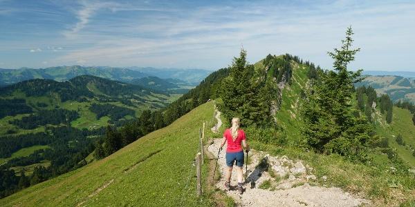 Wanderung im Allgäu: Vom Hochgrat über den Eineguntkopf