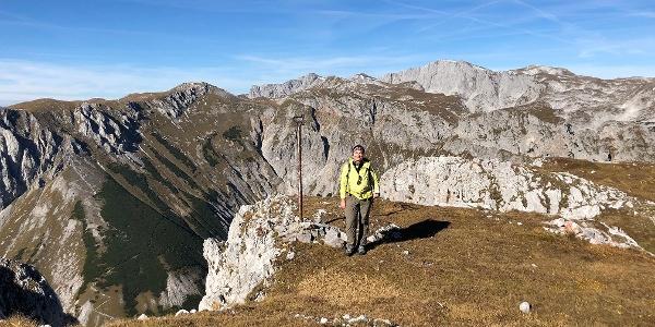 Blick auf Fölzstein und Hochschwab Südwand