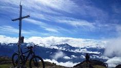 Blick vom Höllkopf in Richtung Alpenhauptkamm