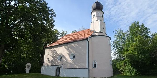 Start an der Bergkirche in Tiefenthal