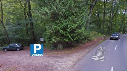 Parkplätze im Wald Manternach