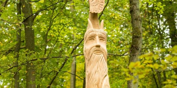 Skulptur am Teufelstein bei Frankelbach