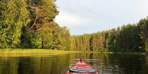 Kayaking Syntiniemi, Sotkamo Vuokatti Finand