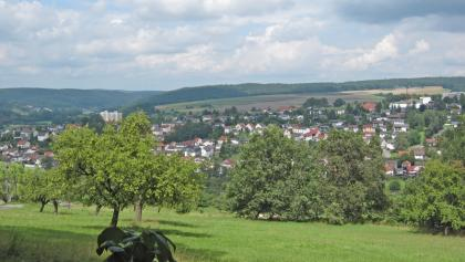 Fürstengrund-Wanderung: Blick auf Bad König