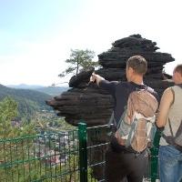 Blick vom Friedrichfelsen auf Lug