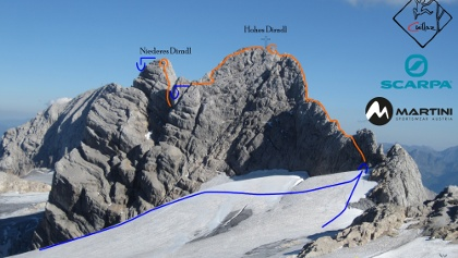 Dirndlüberschreitung Übersichtsbild mit Route - Fototopo