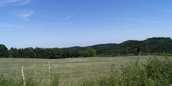 Ausblick über Felder und Wiesen