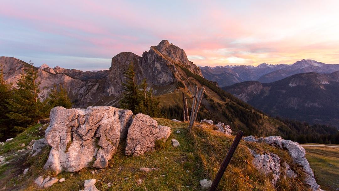 Berglandschaft in Pfronten