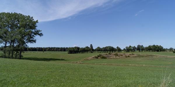 Ausblick über Wiesen und Weiden
