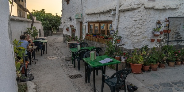 Dinner on the Streets in Mecina