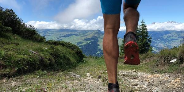 Downhill in Richtung Alp da Riein