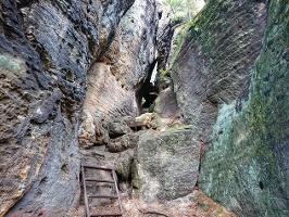 Foto Der Aufstieg auf den Kleinen Bärenstein