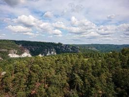 Foto Blick vom Rauenstein zum Basteigebiet