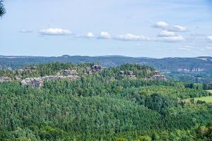 Foto Aussicht vom Großen Bärenstein auf den Rauenstein