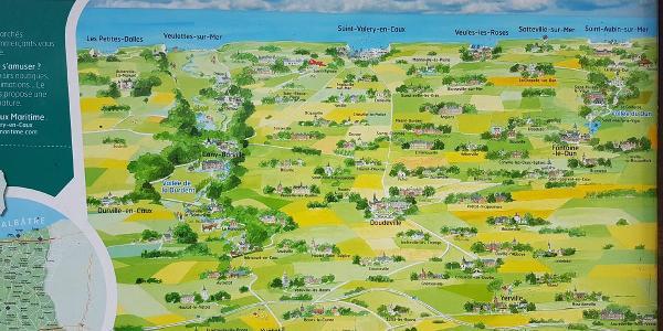 die Orte des Caux Maritime