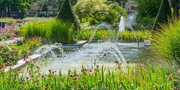 Wasserspiele im Kurpark Bad Eilsen